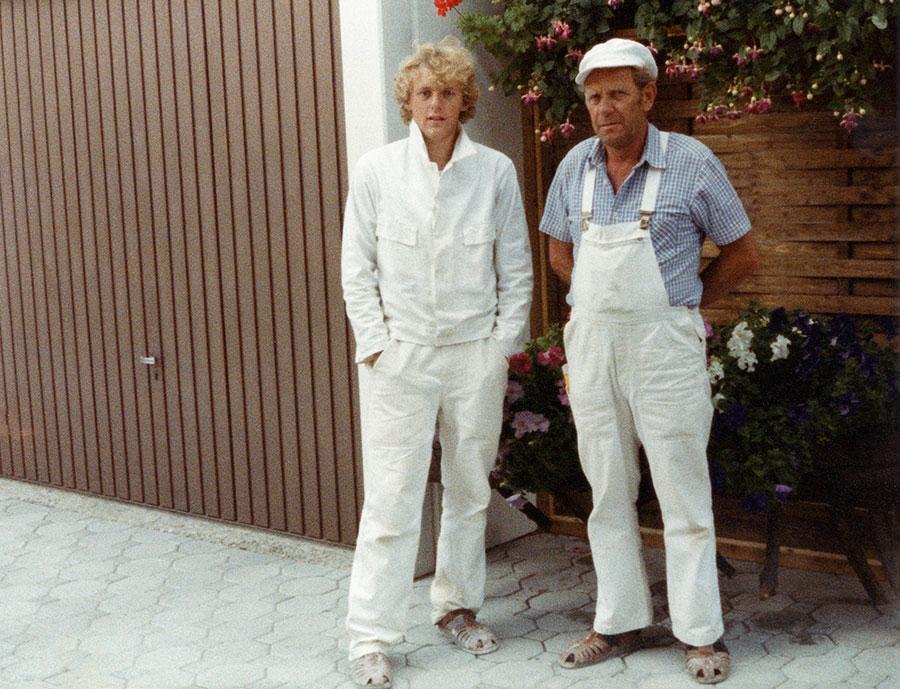 Volker Weismann mit Vater