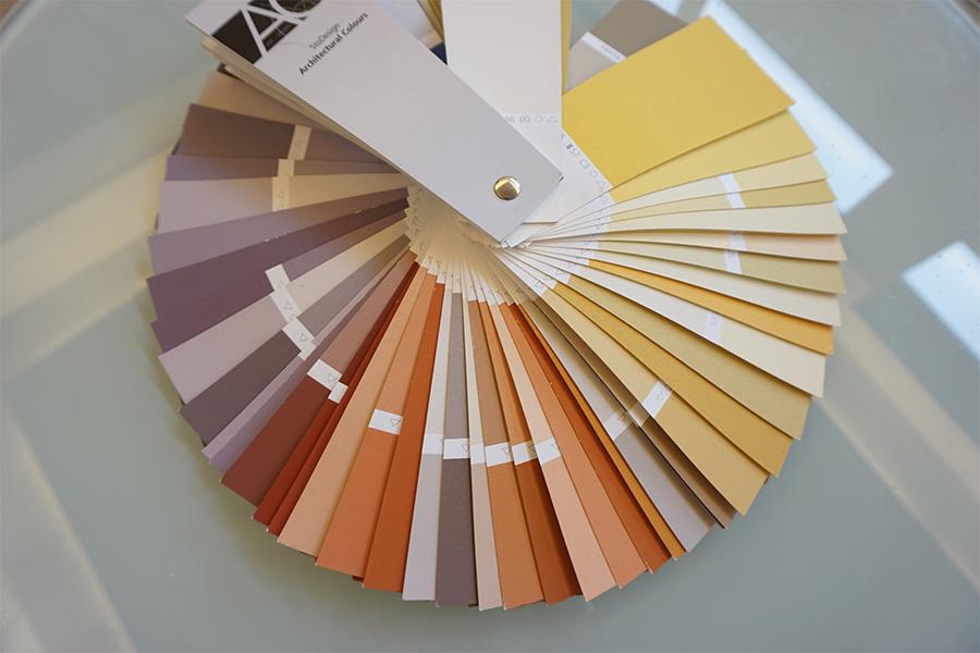 Farbpalette Malerarbeiten